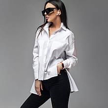 Офисная  белая рубашка из поплина размеры: только L.