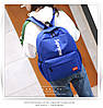 Рюкзак Supreme синий сумочкой и пеналом в комплекте, фото 4