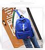 Рюкзак Supreme синий сумочкой и пеналом в комплекте, фото 6