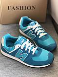 Голубые яркие кроссовки в стиле New balance, фото 6