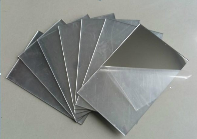 Полістирол HIPS 1 мм, дзеркальне срібло, лист 1000х2000 мм