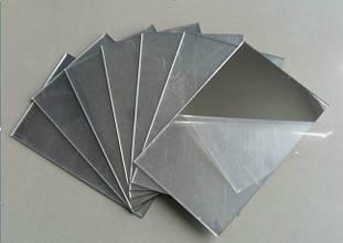 Полистирол HIPS 1 мм, зеркальное серебро, лист 1000х2000 мм