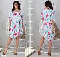 Полегшене сукня жіноча асиметрія (2 кольори) СВ/-05196 - Білий, фото 1