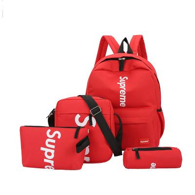 Рюкзак Supreme красный сумочкой и пеналом в комплекте