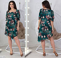Полегшене сукня жіноча асиметрія (2 кольори) СВ/-05196 - Зелений, фото 1