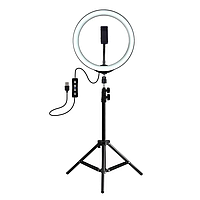 Кольцевая светодиодная LED лампа RING на штативе для блогера, селфи, фотографа, визажиста D 26 см
