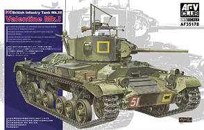 Valentine Mk.1. Сборная модель британского танка в масштабе 1/35. AFV CLUB AF35178