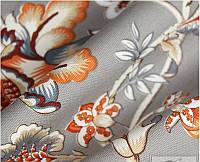 Ткань для штор  с цветочным принтом
