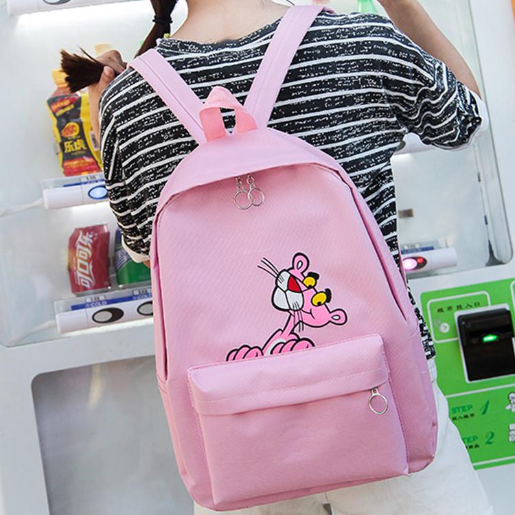 Рюкзак женский розовый с розовой пантерой