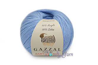 Gazzal Baby Cotton-25, Голубой №3423