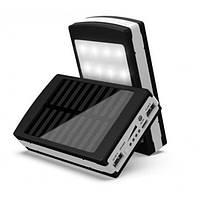 Батерея універсальна Power Bank Solar 40000 з сонячною батареєю і LED