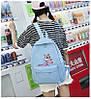 Рюкзак женский голубой с розовой пантерой, фото 4
