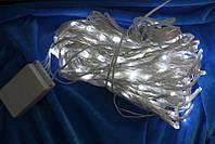 Светодиодная гирлянда занавес Дождь 240Л белая (650163)