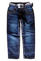 Теплые джинсы на флисе для мальчика; 104 размер