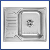 Мойка для кухни из нержавейки Imperial 5848 Decor (IMP5848DEC) прямоугольная врезная с крылом маленькая