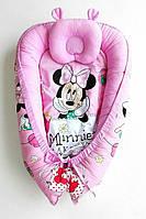 Позиционер для новорожденных ТМ «Lux Baby» Минни Маус+ортопедическая подушка (484026)
