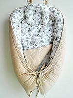 Позиционер для новорожденных ТМ «Lux Baby» Птички+ортопедическая подушка (484027)