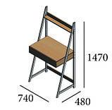 Стол рабочий Loft Металл-Дизайн. Серия Дуо, фото 2