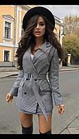 Женский двойка женский (пиджак+юбка) в гусиную лапку, фото 1