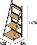 Стеллаж Loft Металл-Дизайн. Серия Дуо, фото 3