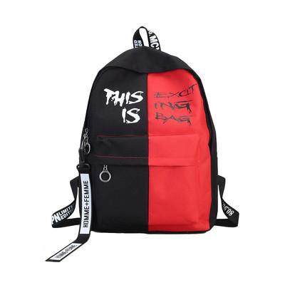 Городской рюкзак  черный с красным THIS IS EXCIT ING BAG