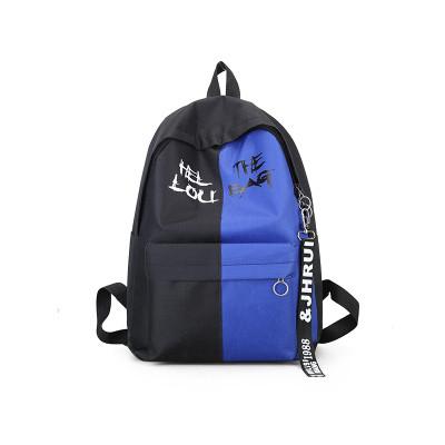 Городской рюкзак  черный с синим THIS IS EXCIT ING BAG