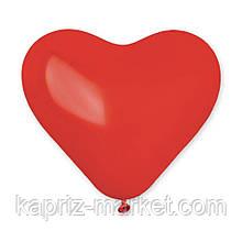 """Куля латексний Gemar пастель «червоне Серце» """"11""""- розмір 25 см"""