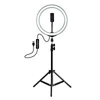 Штатив 2 метра с люминесцентной круговой лампой 31см
