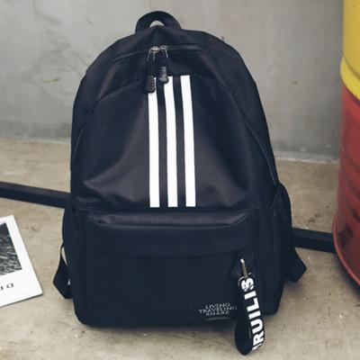 Рюкзак черный с белыми полосками
