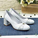 Туфли женские на невысоком устойчивом каблуке, натуральная кожа, фото 2