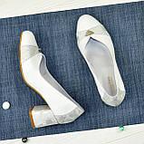 Туфли женские на невысоком устойчивом каблуке, натуральная кожа, фото 5