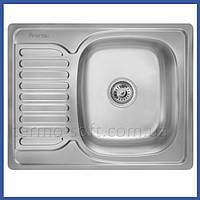 Мойка для кухни из нержавейки Imperial 6350 Decor (IMP6350DEC) прямоугольная врезная с крылом