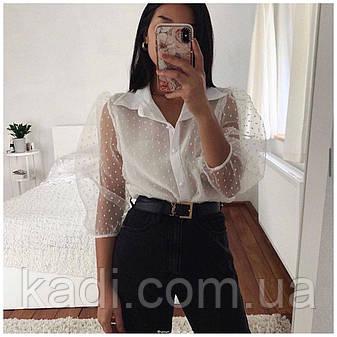 Блуза с объемными рукавами, фото 2