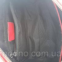 Жіноча шкіряна сумка з двома ремінцями через і на плече Polina & Eiterou, фото 9