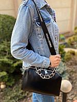 Жіноча шкіряна сумка з двома ремінцями через і на плече Polina & Eiterou, фото 4