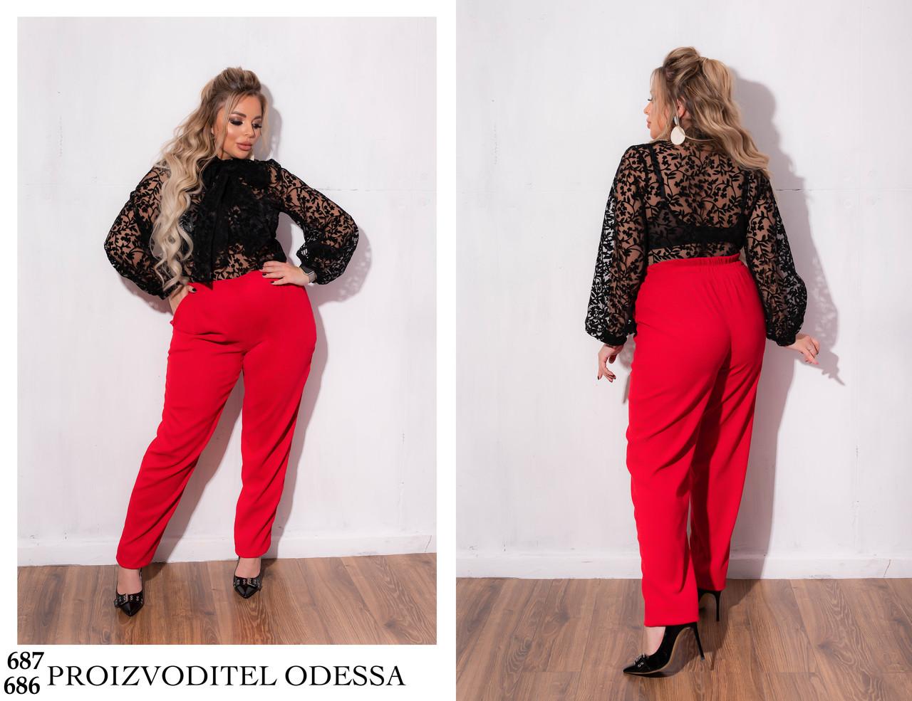 Костюм классический прозрачная блуза+вельветовая юбка карандаш 46-48,50-52,54-56