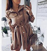 Легкое платье-рубашка, софт, фото 1