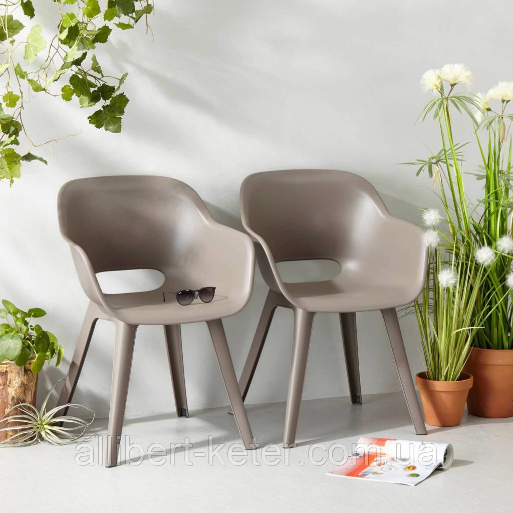 Стілець садовий вуличний Allibert Akola Duo Dining Chair Cappuccino ( капучіно )