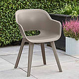 Стілець садовий вуличний Allibert Akola Duo Dining Chair Cappuccino ( капучіно ), фото 8