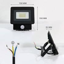 Светодиодный прожектор OEM 20W S4-SMD-20-Slim+Sensor 6500К 220V IP65, фото 3
