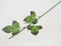 Ножка розы 69см, с 3-я листочками