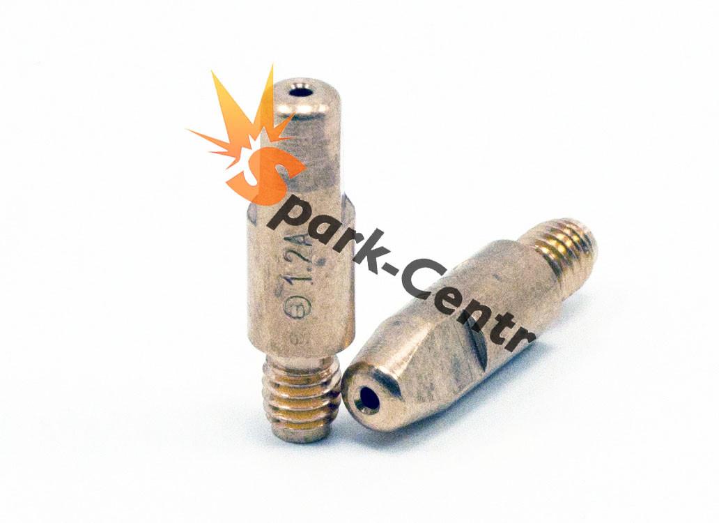 Наконечник токосъемный для алюминия (E-Cu для Al) Ø1,2 мм М6х28 для горелок МВ 25 Binzel Abicor (Германия)