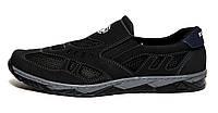 Мокасини туфлі чоловічі чорні кроссовки літні