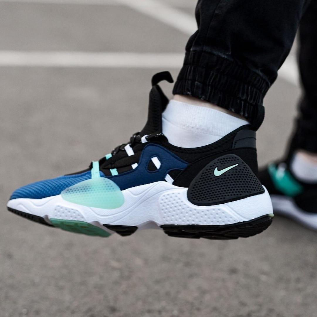 Мужские кожаные кроссовки   Nike Air Huarache E.D.G.E. (сине/белые)