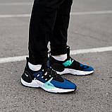 Мужские кожаные кроссовки   Nike Air Huarache E.D.G.E. (сине/белые), фото 2