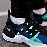 Мужские кожаные кроссовки   Nike Air Huarache E.D.G.E. (сине/белые), фото 3