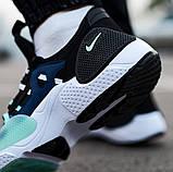 Мужские кожаные кроссовки   Nike Air Huarache E.D.G.E. (сине/белые), фото 4