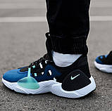 Мужские кожаные кроссовки   Nike Air Huarache E.D.G.E. (сине/белые), фото 5