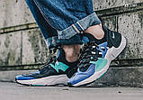 Мужские кожаные кроссовки   Nike Air Huarache E.D.G.E. (сине/белые), фото 6