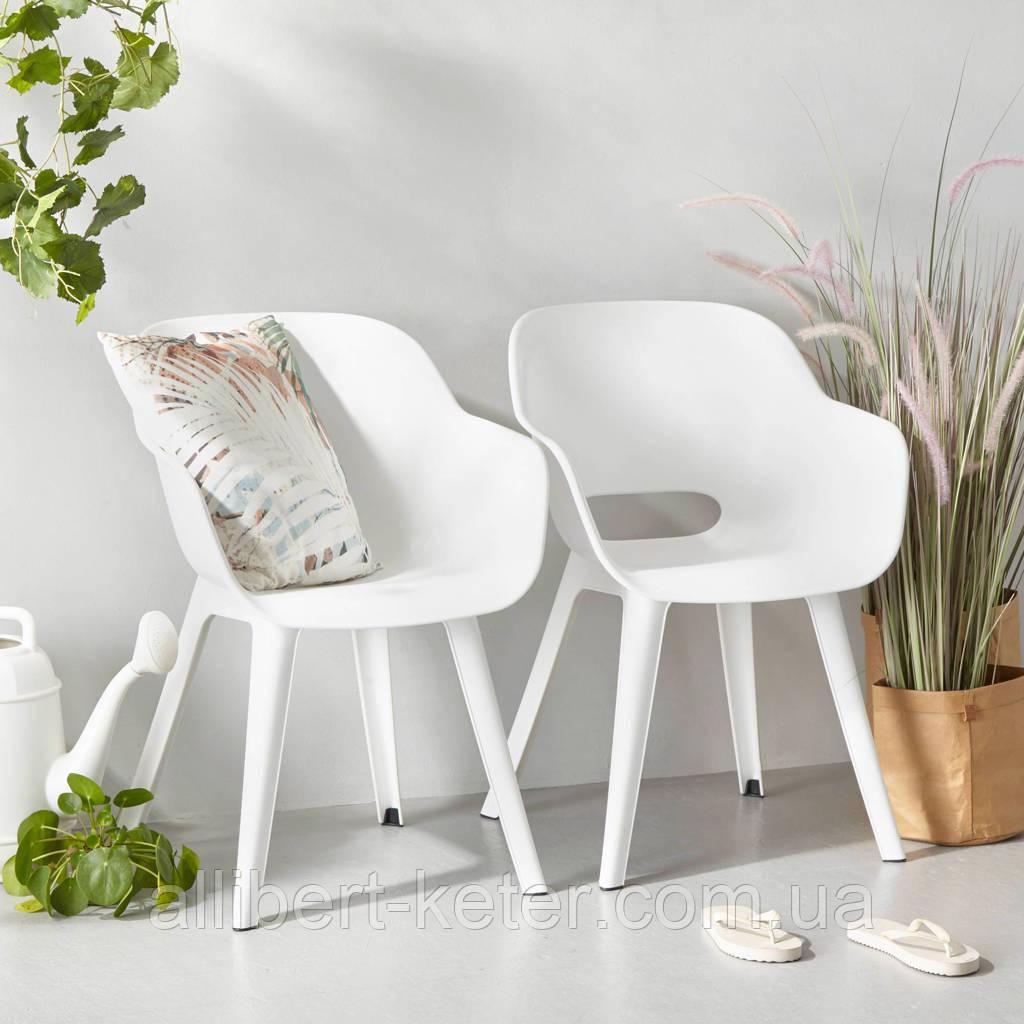 Стул садовый уличный Allibert Akola Duo Dining Chair White ( белый )